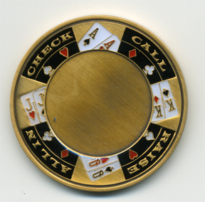 Personalized poker card protector